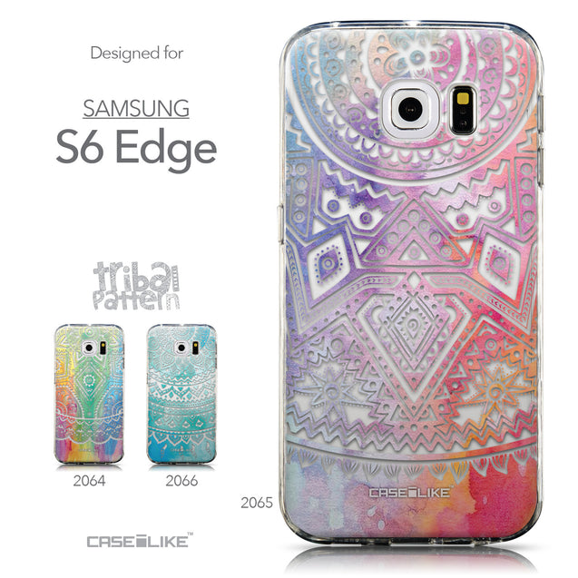 Collection - CASEiLIKE Samsung Galaxy S6 Edge back cover Indian Line Art 2065