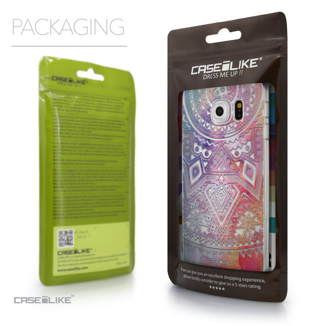 Packaging - CASEiLIKE Samsung Galaxy S6 Edge back cover Indian Line Art 2065