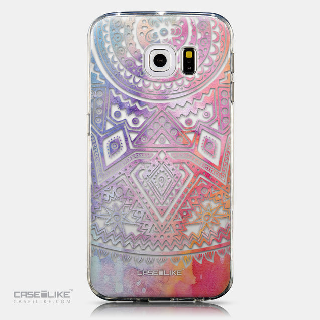 CASEiLIKE Samsung Galaxy S6 Edge back cover Indian Line Art 2065