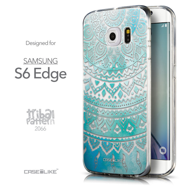 Front & Side View - CASEiLIKE Samsung Galaxy S6 Edge back cover Indian Line Art 2066