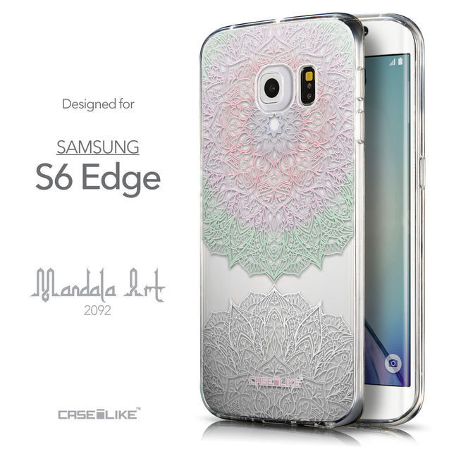 Front & Side View - CASEiLIKE Samsung Galaxy S6 Edge back cover Mandala Art 2092