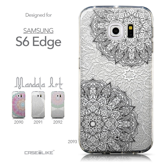 Collection - CASEiLIKE Samsung Galaxy S6 Edge back cover Mandala Art 2093