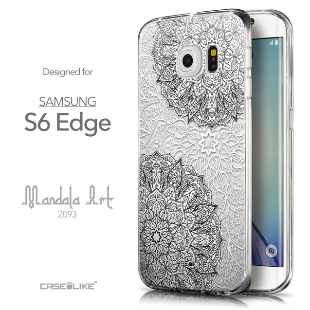 Front & Side View - CASEiLIKE Samsung Galaxy S6 Edge back cover Mandala Art 2093