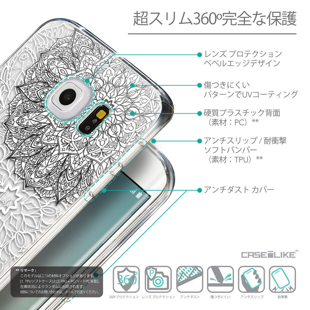 Details in Japanese - CASEiLIKE Samsung Galaxy S6 Edge back cover Mandala Art 2093
