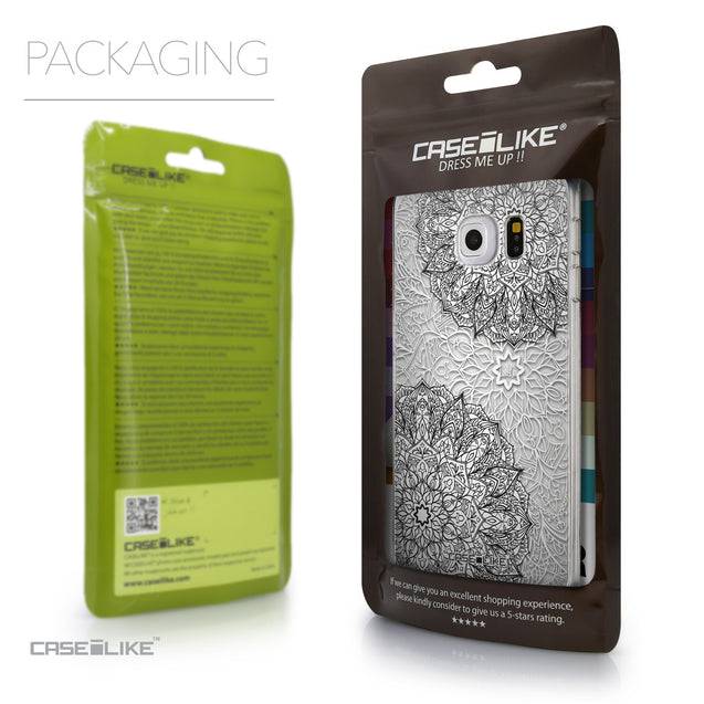 Packaging - CASEiLIKE Samsung Galaxy S6 Edge back cover Mandala Art 2093