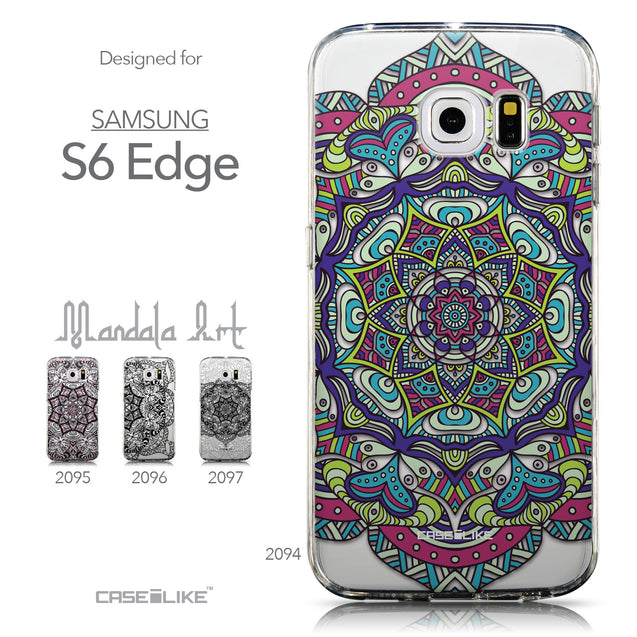 Collection - CASEiLIKE Samsung Galaxy S6 Edge back cover Mandala Art 2094