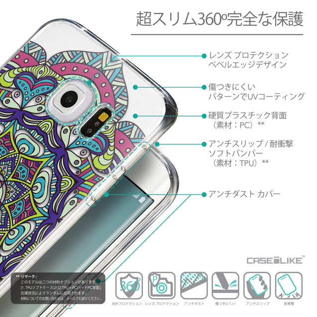 Details in Japanese - CASEiLIKE Samsung Galaxy S6 Edge back cover Mandala Art 2094
