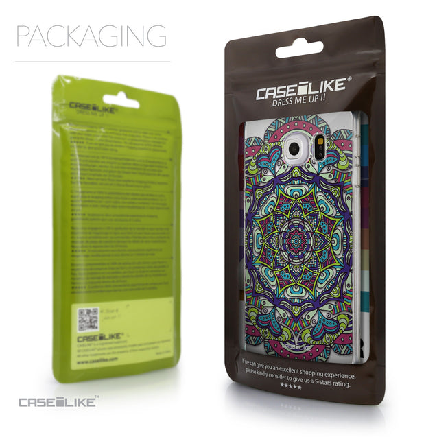 Packaging - CASEiLIKE Samsung Galaxy S6 Edge back cover Mandala Art 2094
