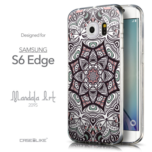 Front & Side View - CASEiLIKE Samsung Galaxy S6 Edge back cover Mandala Art 2095