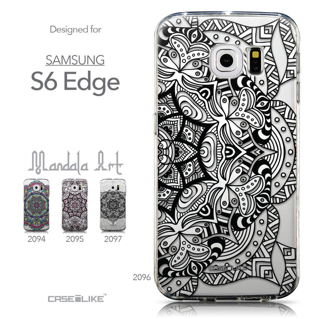 Collection - CASEiLIKE Samsung Galaxy S6 Edge back cover Mandala Art 2096
