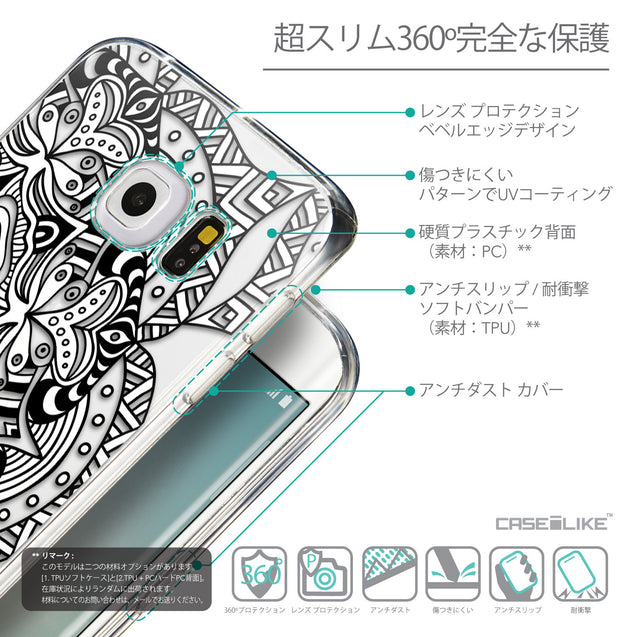 Details in Japanese - CASEiLIKE Samsung Galaxy S6 Edge back cover Mandala Art 2096