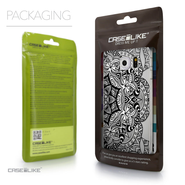 Packaging - CASEiLIKE Samsung Galaxy S6 Edge back cover Mandala Art 2096