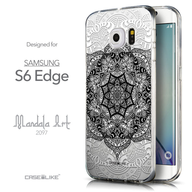 Front & Side View - CASEiLIKE Samsung Galaxy S6 Edge back cover Mandala Art 2097