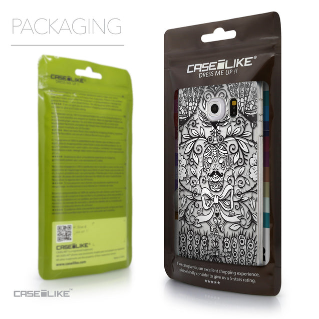 Packaging - CASEiLIKE Samsung Galaxy S6 Edge back cover Roses Ornamental Skulls Peacocks 2227