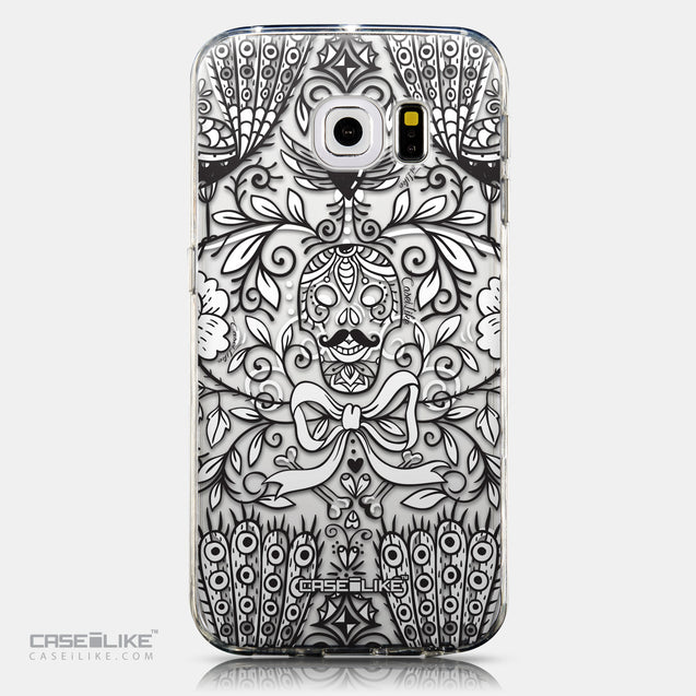 CASEiLIKE Samsung Galaxy S6 Edge back cover Roses Ornamental Skulls Peacocks 2227