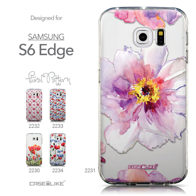 Collection - CASEiLIKE Samsung Galaxy S6 Edge back cover Watercolor Floral 2231