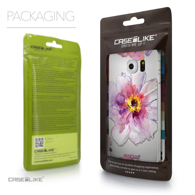 Packaging - CASEiLIKE Samsung Galaxy S6 Edge back cover Watercolor Floral 2231