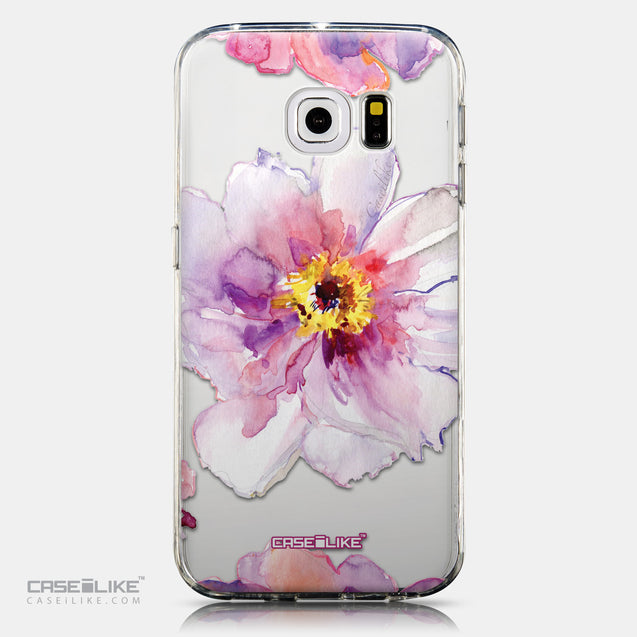 CASEiLIKE Samsung Galaxy S6 Edge back cover Watercolor Floral 2231