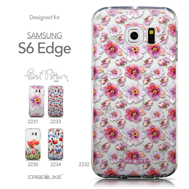 Collection - CASEiLIKE Samsung Galaxy S6 Edge back cover Watercolor Floral 2232