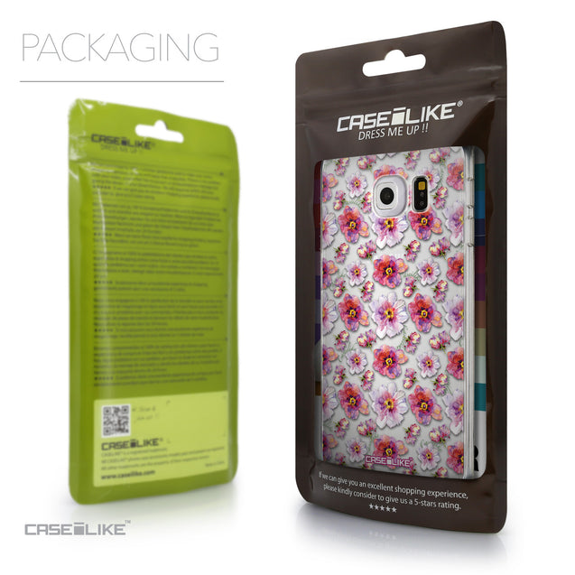 Packaging - CASEiLIKE Samsung Galaxy S6 Edge back cover Watercolor Floral 2232