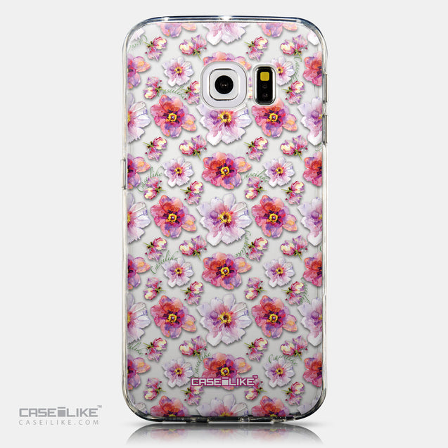 CASEiLIKE Samsung Galaxy S6 Edge back cover Watercolor Floral 2232