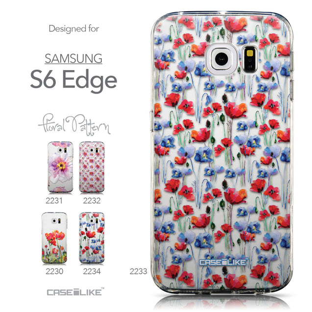 Collection - CASEiLIKE Samsung Galaxy S6 Edge back cover Watercolor Floral 2233