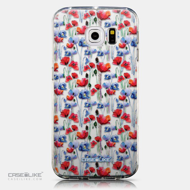 CASEiLIKE Samsung Galaxy S6 Edge back cover Watercolor Floral 2233