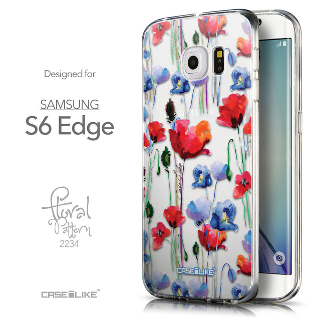 Front & Side View - CASEiLIKE Samsung Galaxy S6 Edge back cover Indian Line Art 2061