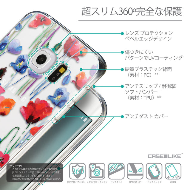 Details in Japanese - CASEiLIKE Samsung Galaxy S6 Edge back cover Indian Line Art 2061
