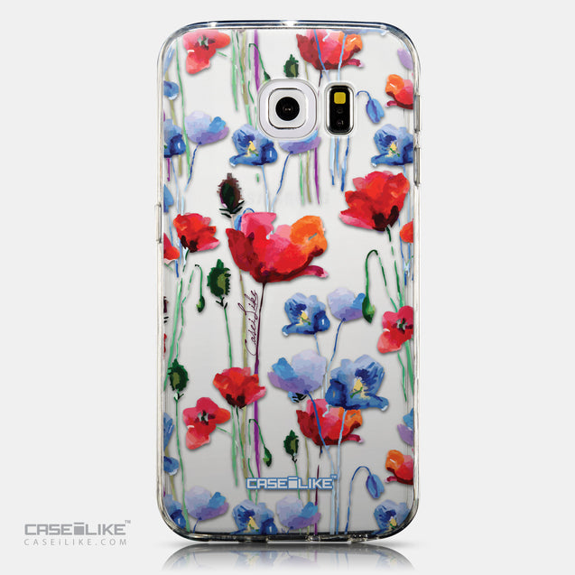 CASEiLIKE Samsung Galaxy S6 Edge back cover Watercolor Floral 2234