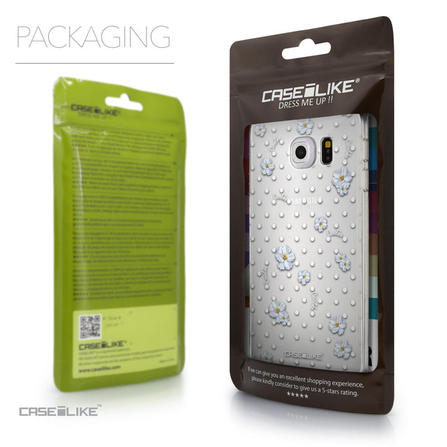 Packaging - CASEiLIKE Samsung Galaxy S6 Edge back cover Indian Line Art 2061