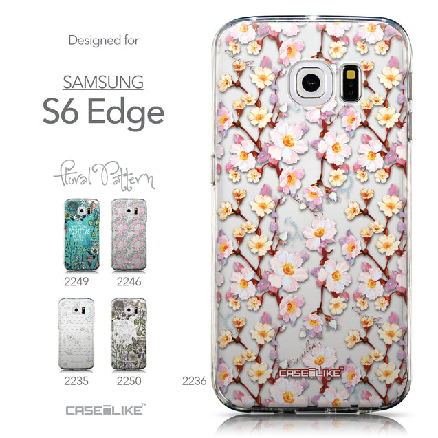Collection - CASEiLIKE Samsung Galaxy S6 Edge back cover Watercolor Floral 2236