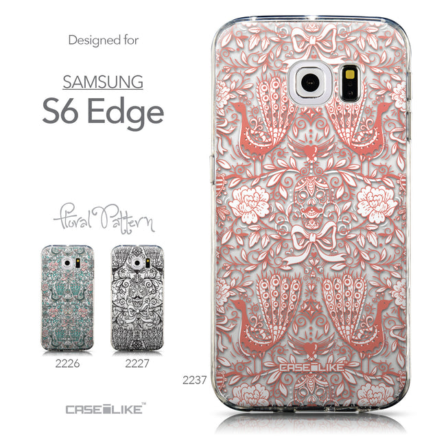 Collection - CASEiLIKE Samsung Galaxy S6 Edge back cover Roses Ornamental Skulls Peacocks 2237