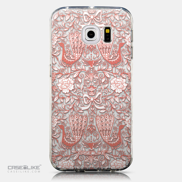 CASEiLIKE Samsung Galaxy S6 Edge back cover Roses Ornamental Skulls Peacocks 2237