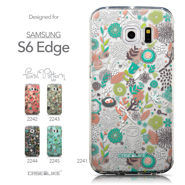 Collection - CASEiLIKE Samsung Galaxy S6 Edge back cover Spring Forest White 2241