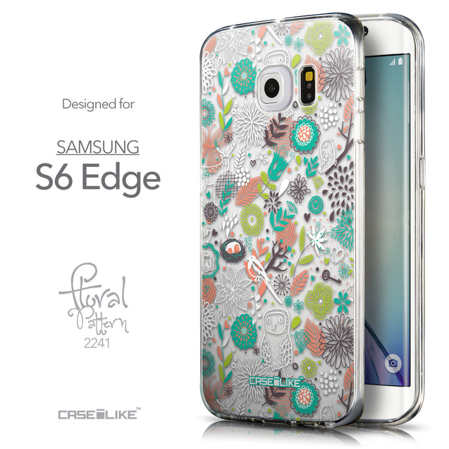 Front & Side View - CASEiLIKE Samsung Galaxy S6 Edge back cover Spring Forest White 2241
