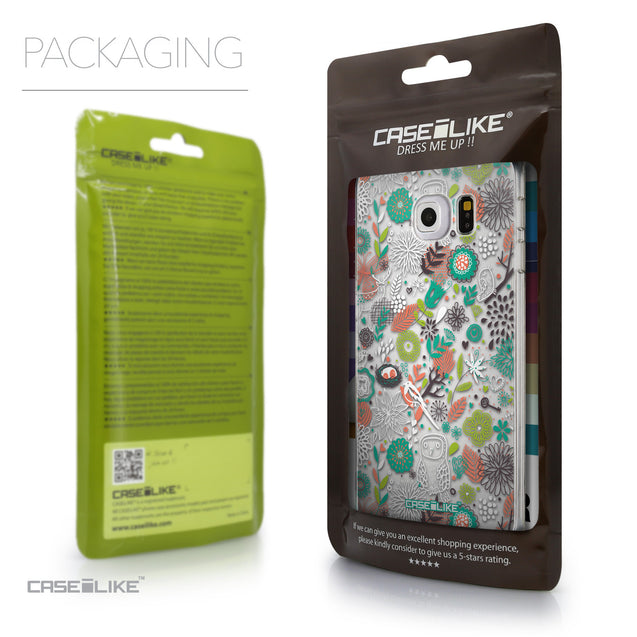 Packaging - CASEiLIKE Samsung Galaxy S6 Edge back cover Spring Forest White 2241