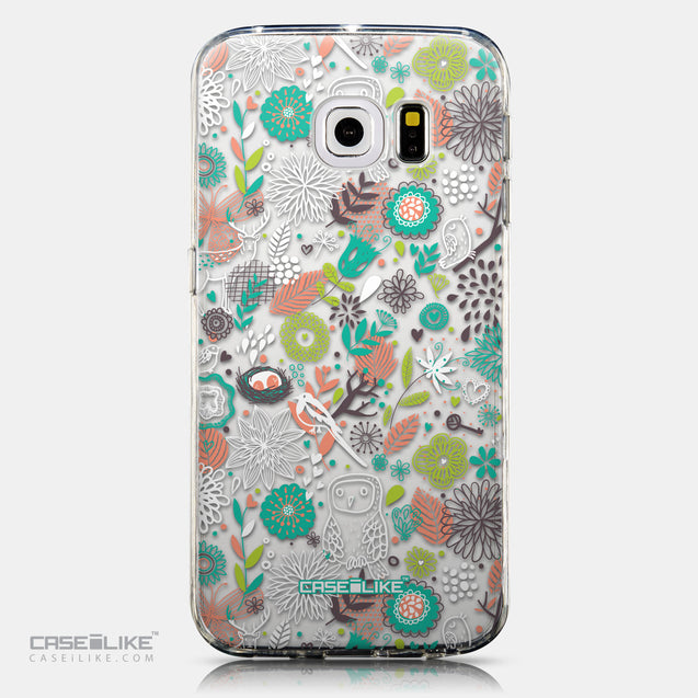 CASEiLIKE Samsung Galaxy S6 Edge back cover Spring Forest White 2241