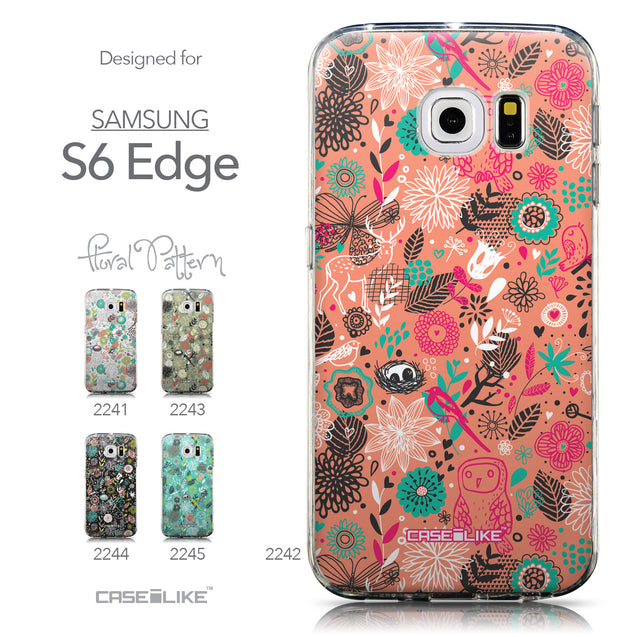 Collection - CASEiLIKE Samsung Galaxy S6 Edge back cover Spring Forest Pink 2242
