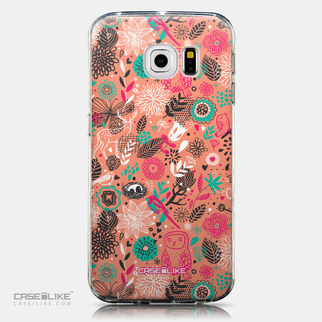 CASEiLIKE Samsung Galaxy S6 Edge back cover Spring Forest Pink 2242