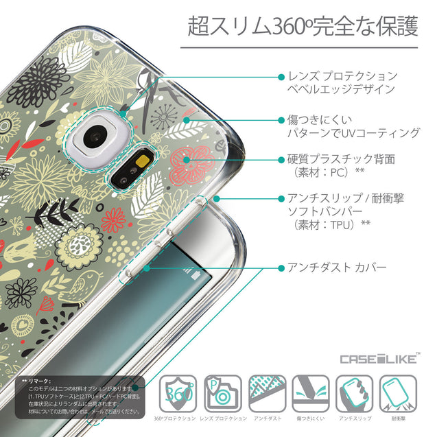 Details in Japanese - CASEiLIKE Samsung Galaxy S6 Edge back cover Spring Forest Gray 2243