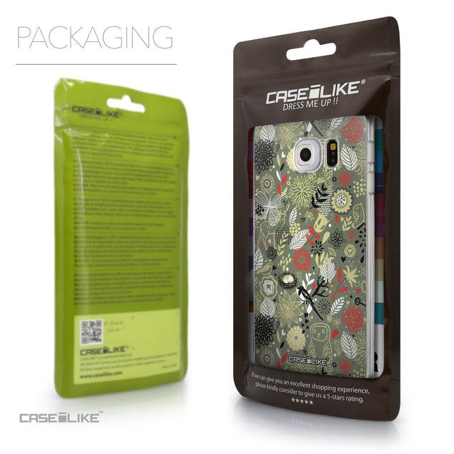 Packaging - CASEiLIKE Samsung Galaxy S6 Edge back cover Spring Forest Gray 2243