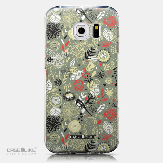 CASEiLIKE Samsung Galaxy S6 Edge back cover Spring Forest Gray 2243