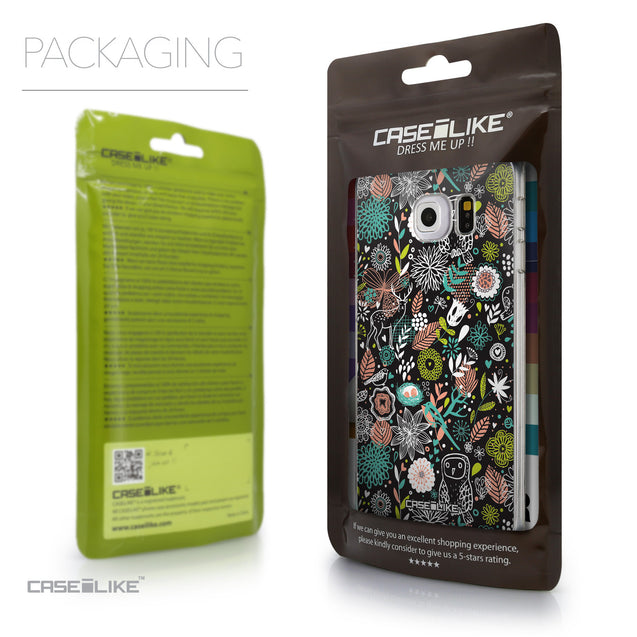 Packaging - CASEiLIKE Samsung Galaxy S6 Edge back cover Spring Forest Black 2244