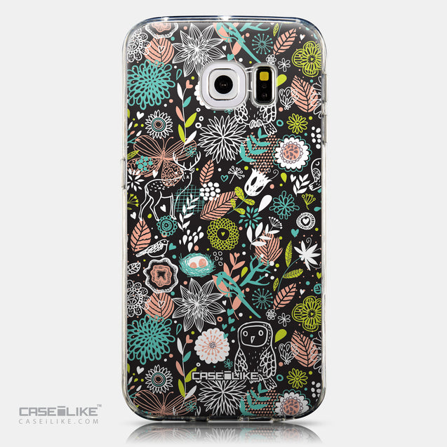 CASEiLIKE Samsung Galaxy S6 Edge back cover Spring Forest Black 2244