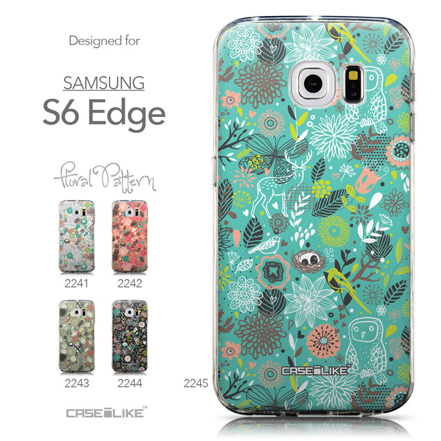 Collection - CASEiLIKE Samsung Galaxy S6 Edge back cover Spring Forest Turquoise 2245