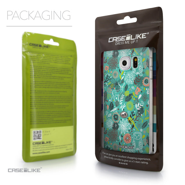 Packaging - CASEiLIKE Samsung Galaxy S6 Edge back cover Spring Forest Turquoise 2245
