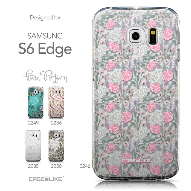 Collection - CASEiLIKE Samsung Galaxy S6 Edge back cover Flowers Herbs 2246
