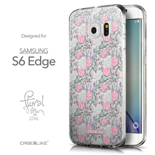 Front & Side View - CASEiLIKE Samsung Galaxy S6 Edge back cover Flowers Herbs 2246
