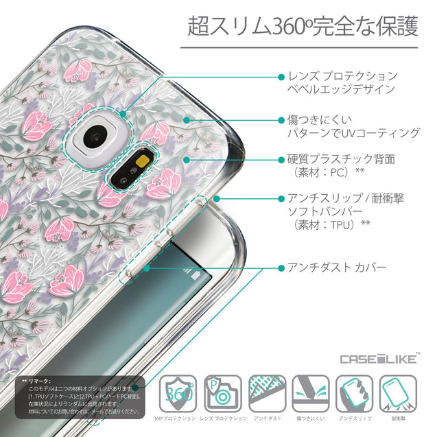 Details in Japanese - CASEiLIKE Samsung Galaxy S6 Edge back cover Flowers Herbs 2246